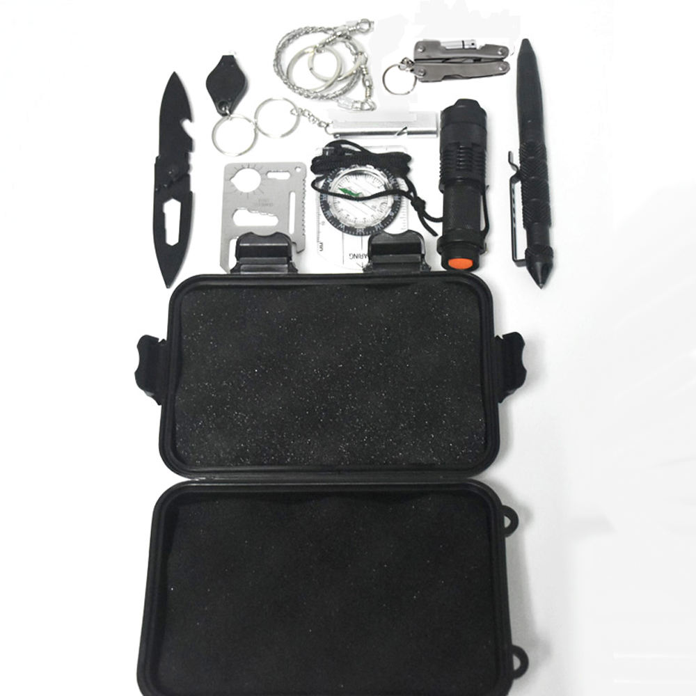 Back To Search Resultssports & Entertainment Safety & Survival 12 In 1 Survival Kit Set Outdoor Camping Travel Multifunction First Aid Sos Emergency Supplies Tactical Survival Kit Military Soft And Antislippery