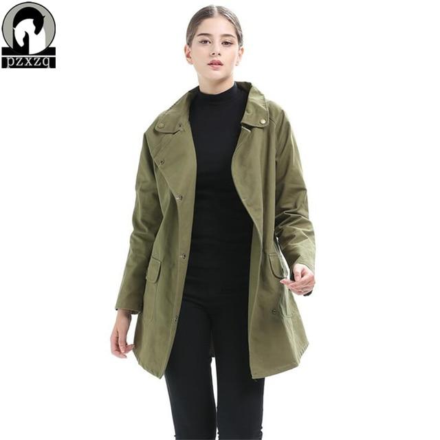 Khaki spring jacket women's