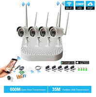 Plug And Play 4CH 1080P HD Wireless NVR Kit P2P 960P Indoor Outdoor IR Night Vision