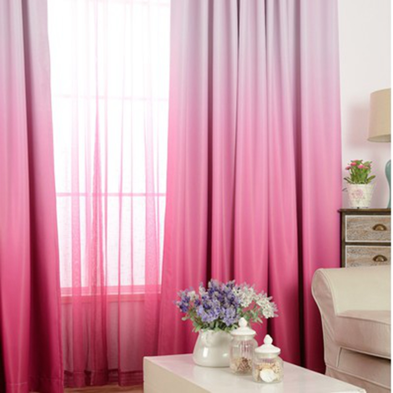 Purple Gradient Shade Curtains For Living Room Romantic Wedding Room ...