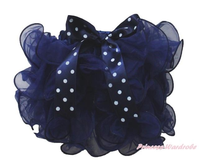 Моряк темно-синий лепесток юбка точка с бантом девочка юбки танец NB-8Y