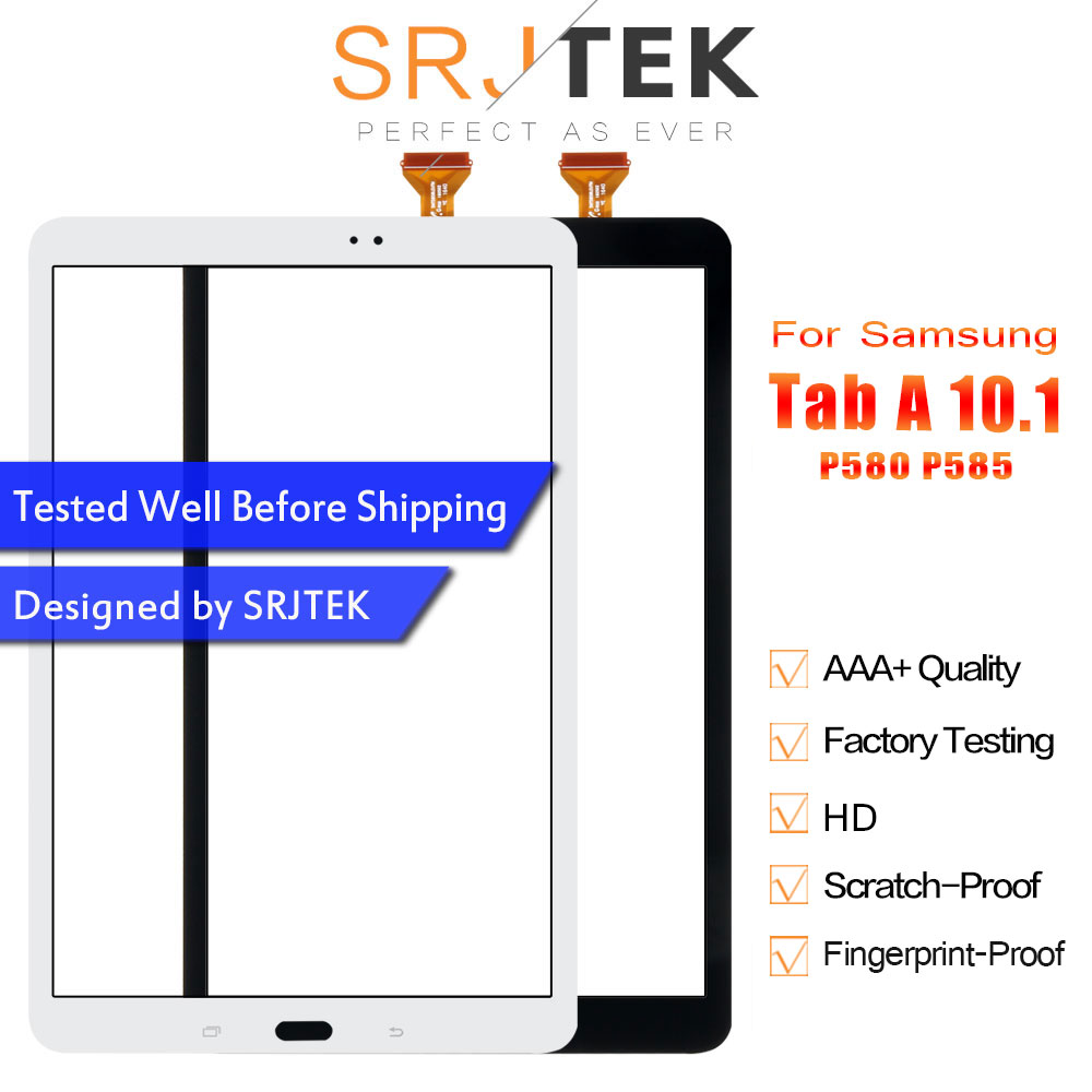 Srjtek 10.1 For Samsung Galaxy Tab A 10.1 P585 P580 SM-P585 SM-P585 Touch Screen Digitizer Sensor Glass Panel Tablet ReplacementSrjtek 10.1 For Samsung Galaxy Tab A 10.1 P585 P580 SM-P585 SM-P585 Touch Screen Digitizer Sensor Glass Panel Tablet Replacement