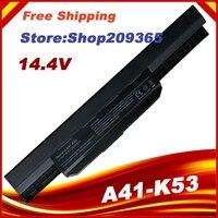 14.4 v bateria do portátil A32 K53 A41 K53 para asus k53 k53e x54c x53s x53 k53s x53e|Baterias p/ laptop|Computador e Escritório -