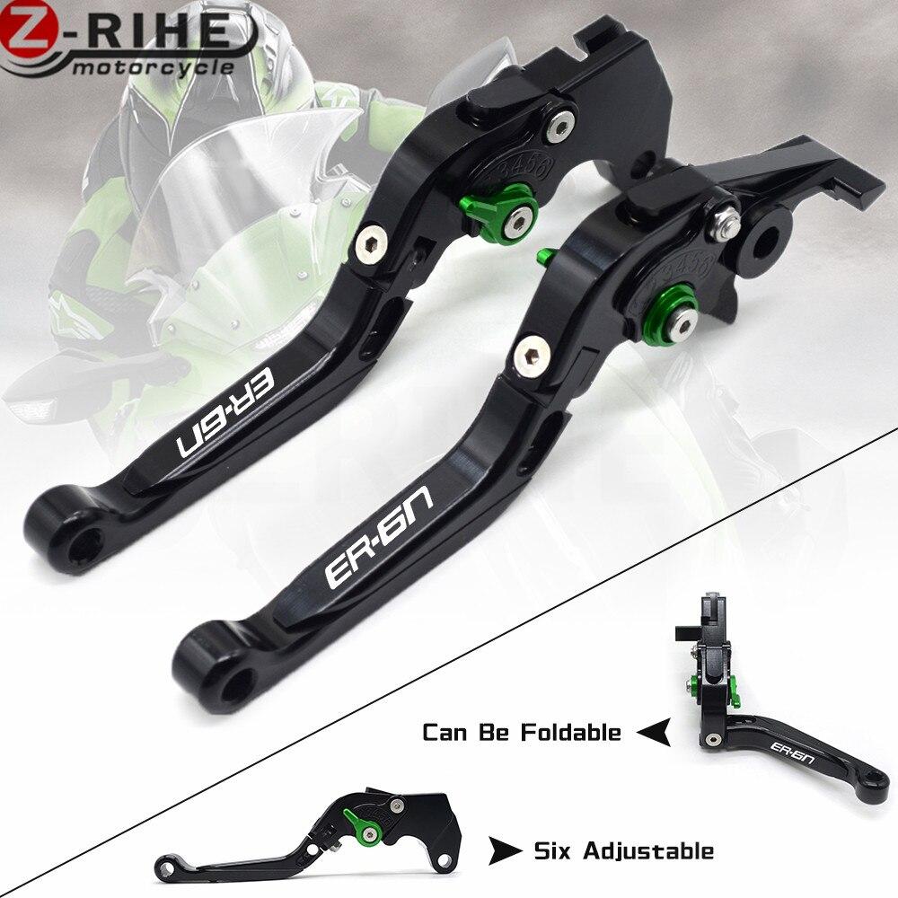 ER-6N logo 4 color CNC Motorcycle Brakes Clutch Levers For KAWASAKI ER6N ER-6N 2009 2010 2011 2012 2013 2014 2015 Accessories