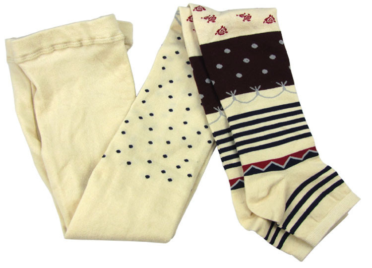 Fashion Spring Autumn Pure Cotton Tights Women Retro Knit Striped Stockings Warm Thick Section Pantyhose_9