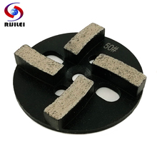 RIJILEI 3PCS/Set 4inch Diamond Grinding plate for Concrete floor Shoes Stone grinding disk ZJ03