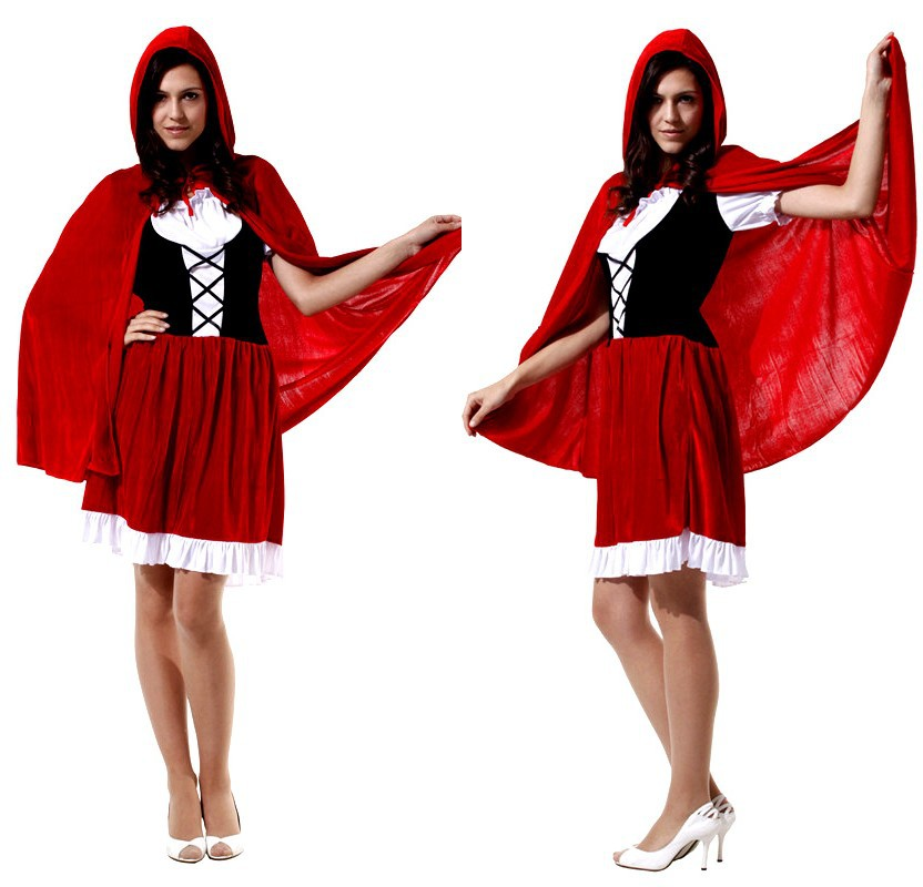 redfantasia feminina woman little riding hood anime cosplay halloween costume carnival rave party masquerade stage performance - Raving Rabbids Halloween Costume