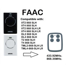 FAAC XT2 XT4 868 SLH LR replacement garage door remote control 868MHZ rolling and fixed code remote duplicator(China)