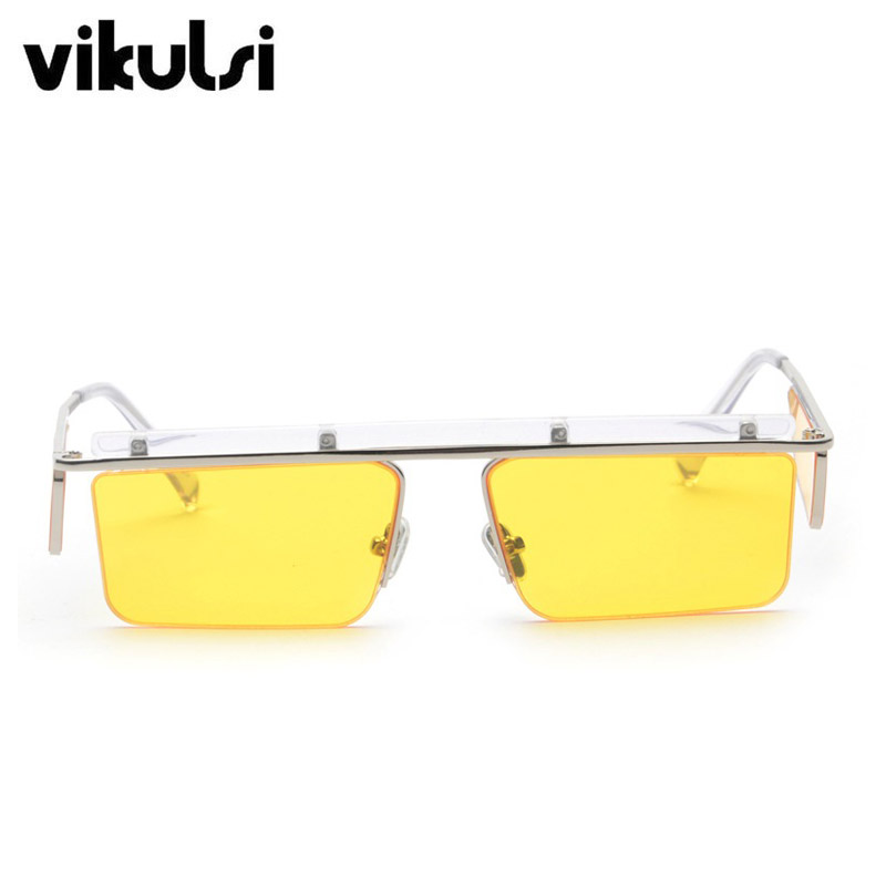 761a5c7132 2018 Luxury New Small Rimless Square Sunglasses Women Men Metal Frame Top Brand  Designer Fashion Sun Glasses Yellow Red Black-in Sunglasses from Apparel ...