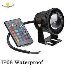 DC12V 10 Вт светодиодный уличный светильник ing потолочные светильник подводный светодиодный светильник IP68 Водонепроницаемый белый/теплый белый/RGB фонтан бассейн лампы