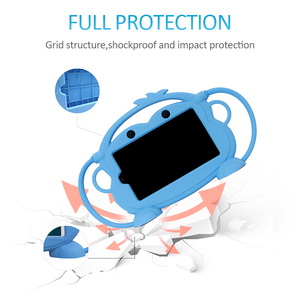 Image 2 - CHINFAI Carry Case for Kindle Fire 7 2015 2017 Kid friendly Silicone Shockproof Washable Case for Kindle Fire 7 with Car Strap