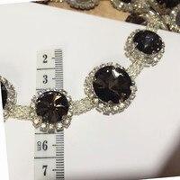 1 mt reinwhite schwarze perlen kleidung zubehör kragen blume DIY handgemachte bördelnde spitze trimmen für kleidung