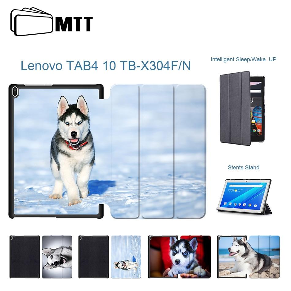 Ultra Slim Leather Husky Dog Case For Lenovo TAB4 Tab 4 10 TB-X304L TB-X304F TB-X304N 10.1