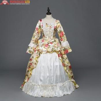 6eeff6846 Vacaciones Marie Antoinette vestidos de fiesta ropa renacimiento Vintage  victoriano rococó Medieval vestido trajes