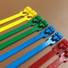 200 мм разъемные кабельные стяжки 100 шт цветные пластиковые многоразовые кабельные стяжки UL Rohs Утвержденные нейлоновые стяжки на молнии