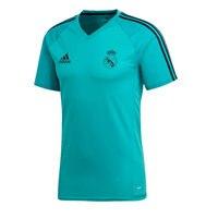 2017 2018 Boy Adidas REAL MADRID TRAINING turquoise polyester Football Shirt soccer jerseys, REAL MADRID SHIRT boy verano 2018