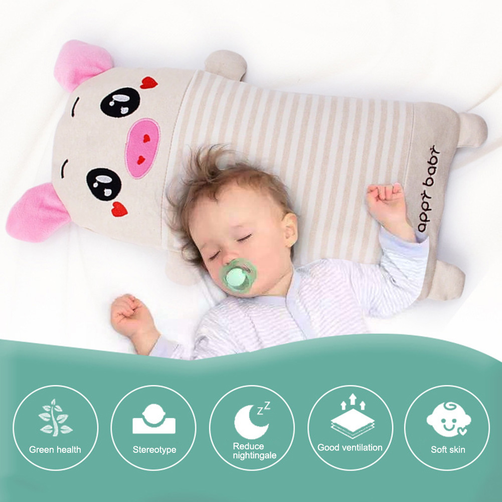 Cartoon Baby Animals Cotton Pillow Baby Sleeping Pillow Buckwheat Filler Colorful Pillow Natural And Healthy For Baby Kids Child