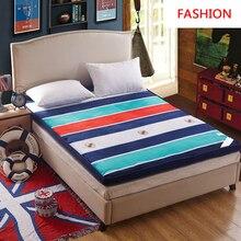 Толстый теплый складной одноместный или двойной матрас Модный Топпер стеганая кровать отель