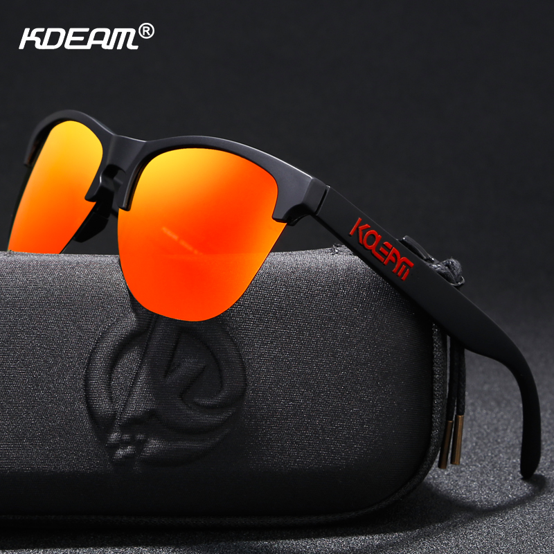 KDEAM High-end TR90 Sport Sunglasses Polarized Ultra-light Design Half-Frame Sun Glasses Men Women Innovative Eyewear