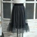Детская одежда 2017 весной новый девушка Корейской версии иностранные чистая 100 чистой пряжи юбка длинный абзац дикий юбка