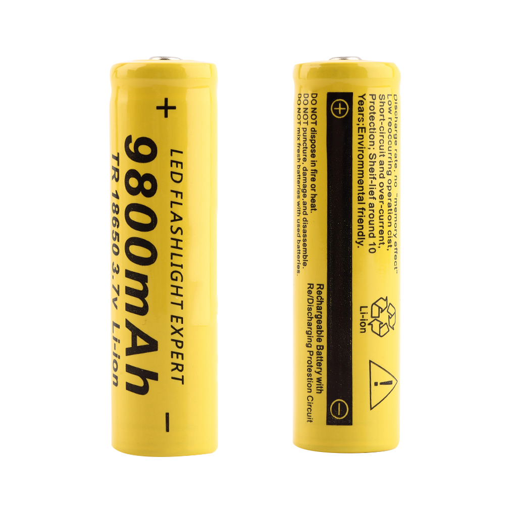 3.7V 18650 9800mAh Capacity Li-ion Rechargeable Battery For Flashlight Torch P20