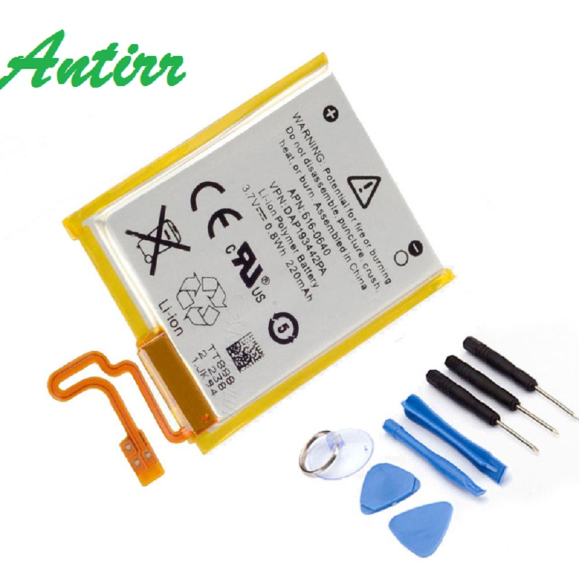 3.7V Li-ion Battery Replacement 330mAh for iPod Nano 7 7th Gen with Tools free shipping