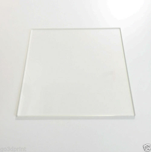 Reprap 3D printer spare parts accessory 220mm x 220mm Borosilicate Glass Plate Bed Flat Polished Edge