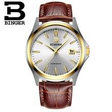 2016 Новый Бингер Деловой случай Мужские Часы Бренда Женева Кварцевые Часы Мужчины Моды Наручные Часы Качество Часы Relogio Negocios