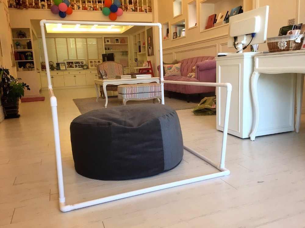 Latar belakang Berdiri PVC Pipa Flokati Booth Bayi Pemotretan Untuk Studio Baru Lahir Fotografi Alat Peraga Keranjang Aksesoris