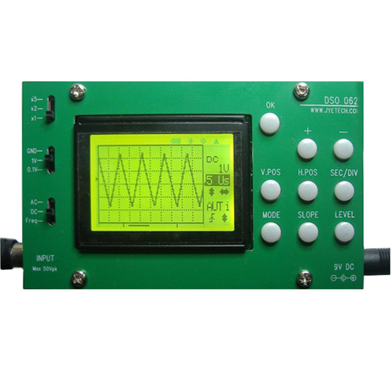 Hot Sale Mini LCD Digital Electronic Oscilloscope DIY Kit 1M Banwidth 2Msps Real-time Sampling Rate Oscilloscopes Instrument hot horloge new desigh hot sale colorful boys girls students time electronic digital wrist sport watch 2017may10