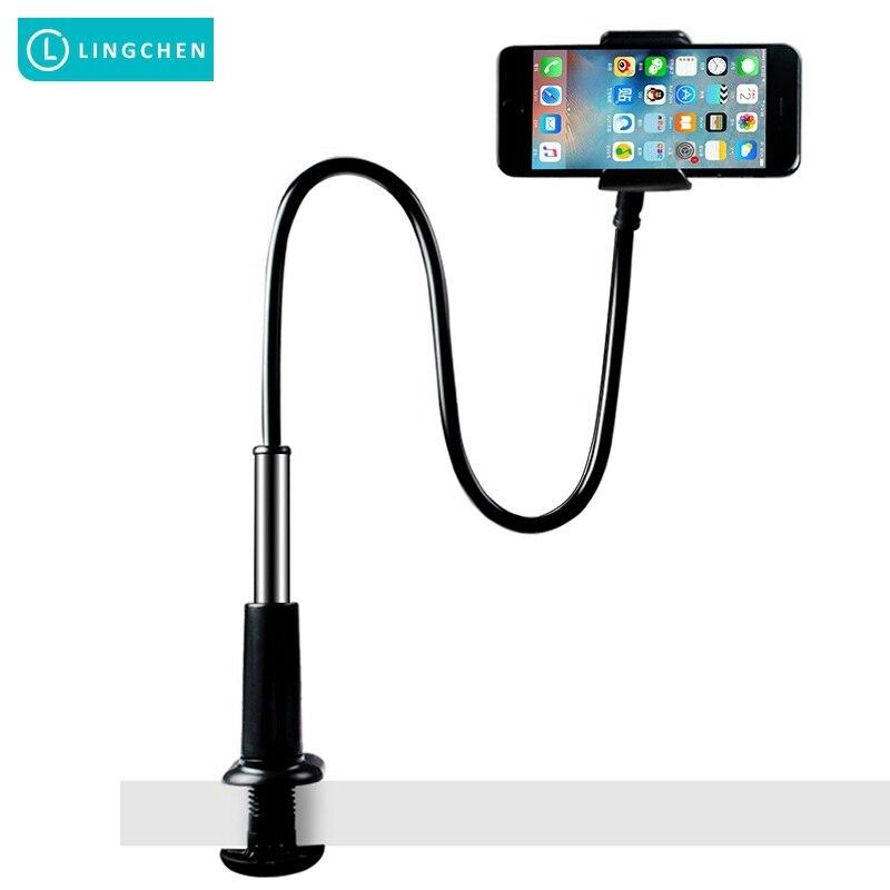 Lingchen Универсальный держатель мобильного телефона Длинные Руки Ленивый стол кровать 360 градусов вращения подставка для iPhone X 6 S 7 8 плюс Держа…