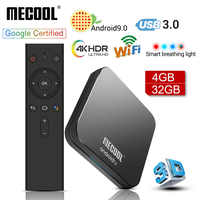 MECOOL KM9 PRO Android 9.0 TV Box Amlogic S905X2 4G DDR4 32G ROM 4K Google Certified Android 9 ATV Smart TV Box Voice Control