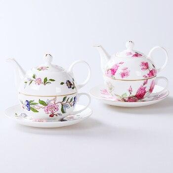 High-grade bone china Phnom Penh single cup pot Afternoon tea set British suits gift ceramic cup and saucer