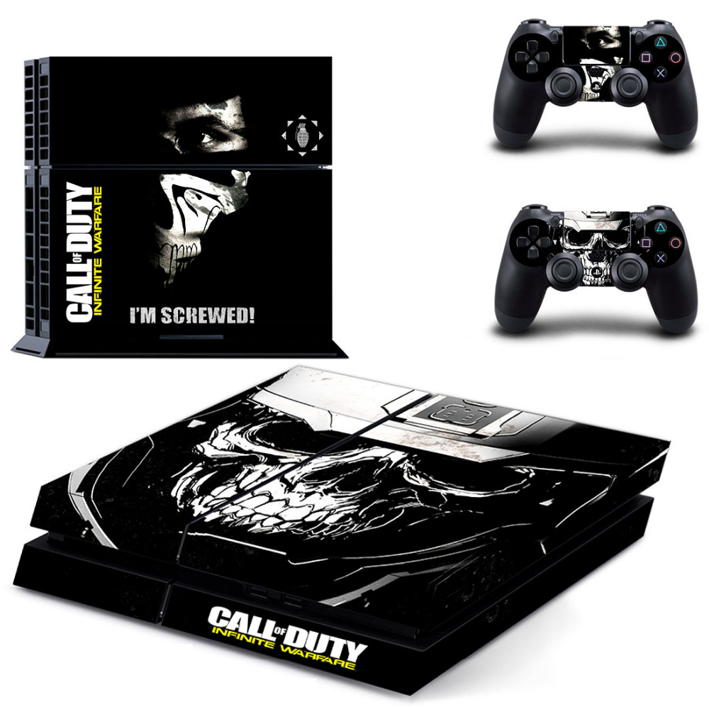 Call of Duty Infinite Warfare PS4 Skin Sticker Decal For Sony PlayStation 4 Console and 2 Controllers PS4 Skin Sticker Vinyl