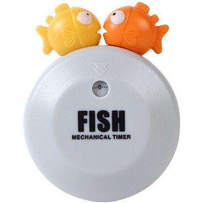 050 Timer Kitchen 60 Minute Cooking Mechanical kitchen alarm Mechanical 60 minute fish Cartoon Timer no batteries 8 5cm 7cm in Kitchen Timers from Home Garden