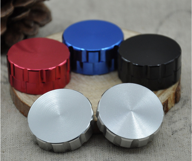 10pcs/lot beer cap shape metal grinder hand smoke detector aluminium 2 layer grinder tobacco smoke grinder