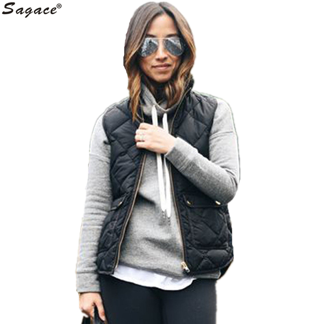 Trendy Women Autumn Winter Slim Warm Vest Casual Black Rhombus Zipper Pocket Waistcoat Lady Stand Collar Sleeveless Coat Oct25