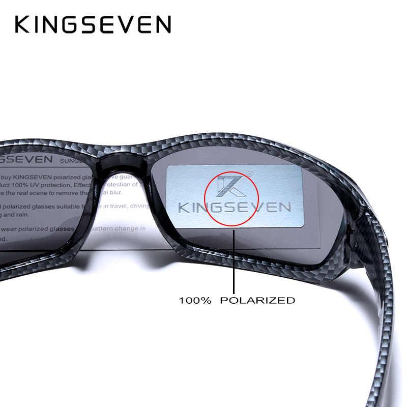 Kingseven Thời Trang Kính Mát Phân Cực Nam Cao Cấp Thương Hiệu Nhà Thiết Kế Vintage Lái Xe Kính Chống Nắng Nam Kính Bóng UV400