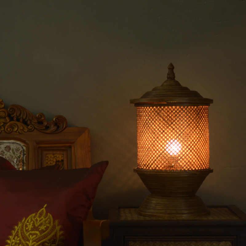 Бамбуковый бар, чайный столик, настольная лампа, Новый классический отель, модельная комната, сад, теплая спальня, прикроватная лампа