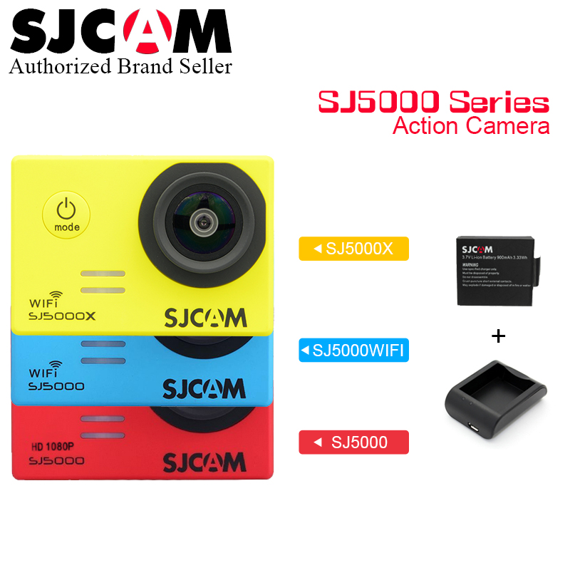 Original sjcam SJ5000 Series SJ5000 & SJ5000 WiFi & SJ5000X Action Sport Camera 4K Waterproof Camera SJ 5000 Cam экшн камера sjcam sj5000 wifi black
