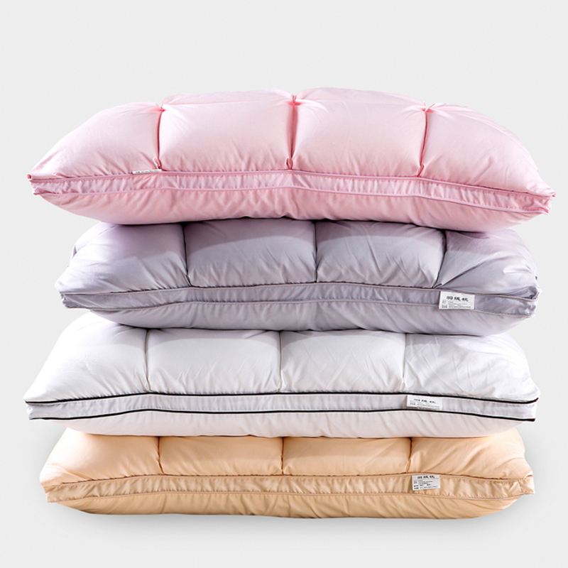Designer style quality cotton natural white duck goose down feather down Pillow 3D bread standard antibacterial