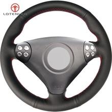 LQTENLEO черный натуральная кожа DIY чехол рулевого колеса автомобиля для Mercedes-Benz SLK-Class W170 W171 SLK 200 200K 280 350 2004-2008