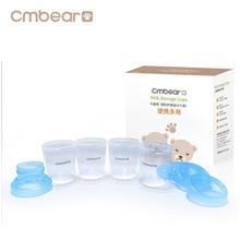 Cmbear 4 Pieces/Set 180ml Breast Milk Storage Bottle Wide Neck Infant Newborn Food Freezer Fresh Cup BPA