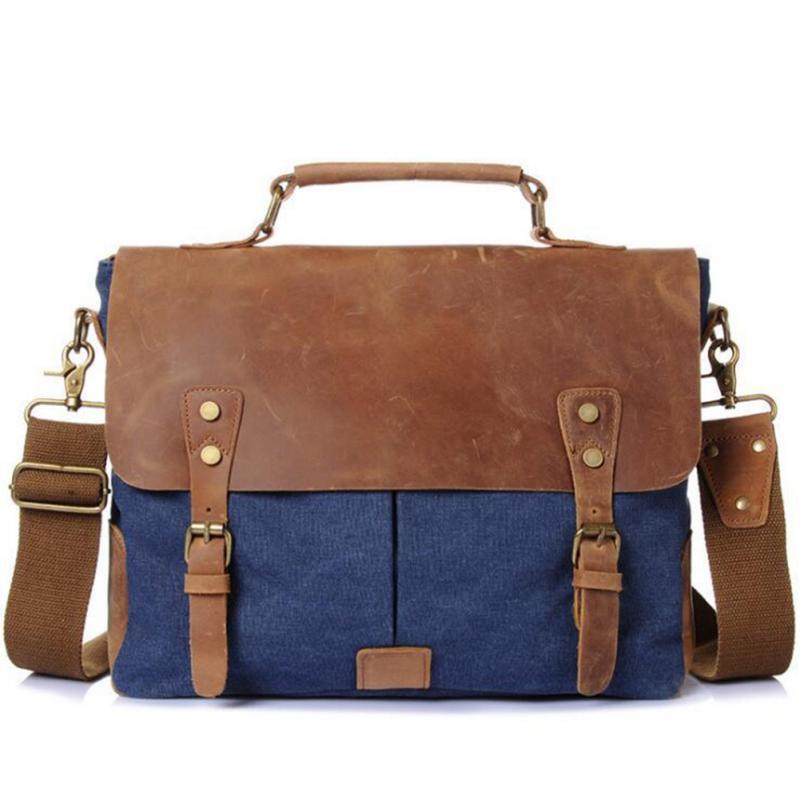 2018 High Quality Men Canvas Bag Multipockets Casual Travel Men's Crossbody Bag Luxury Men Messenger Bags high quality casual men bag