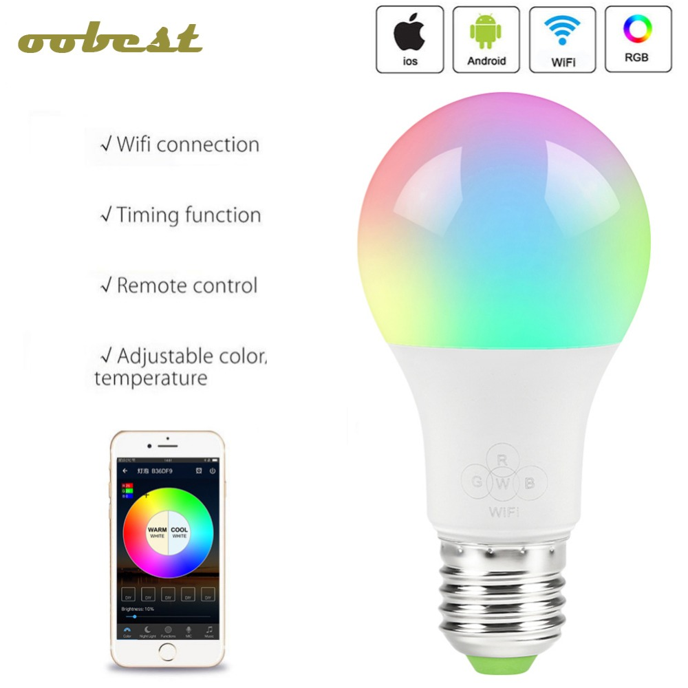 Smart Led Bulb Us 9 75 20 Off Smart Led Lamp Wifi Bulb Rgb Dimmable 4 5w 6 5w E27 Led Bulb Light Bulb Works With Alexa Google Home With App Remote Control In Led