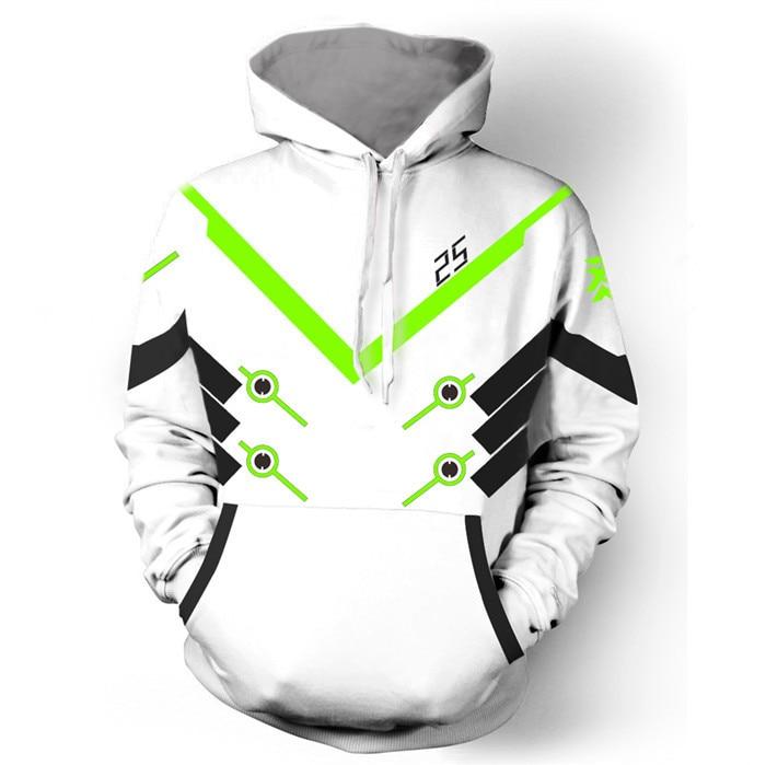 OW Hoodie Cosplay Soldier 76 Hoodie Zipper Jacket Game OW Unisex Coat Costume