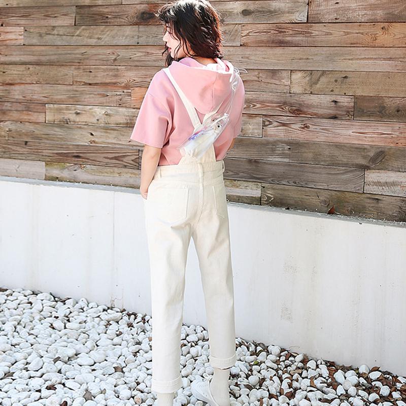 Denim Jumpsuit Women Solid Hole Jeans Jumpsuit Rompers Women Korean Fashion Suspender Monos Largos Mujer Pantalon Largo Overalls 13