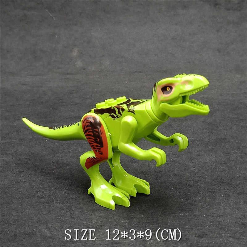 Mundo jurássico Parque Raptor Animal Dinossauros Tiranossauro Rex Figuras de Ação Tijolos de Blocos de Construção Para As Crianças Brinquedos de Presente