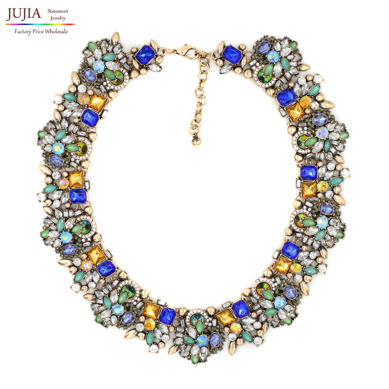 2017 NEW fashion necklace collar Necklaces Pendants trendy acrylic pendant Twisted Singapore Chain choker statement necklace