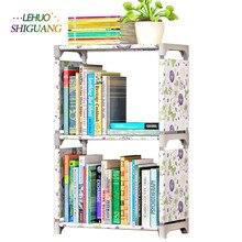 Простой книжная полка книжный шкаф полок творческое сочетание полка пол детский книжный шкаф